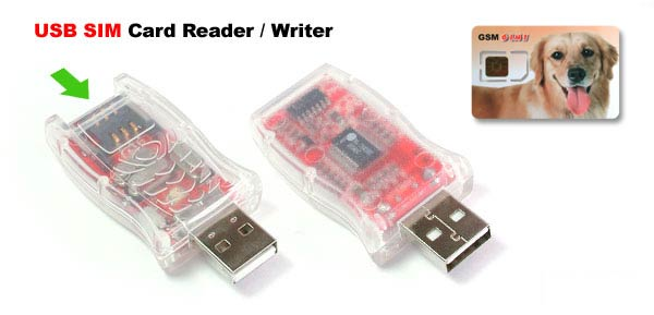 SIM Card USB Reader Writer - For GSM Phone Backup with SIM Card (6 in 1)