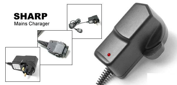 Mains Charger (3-pins) for Sharp GX10 / GX10i / GX20 / GX22